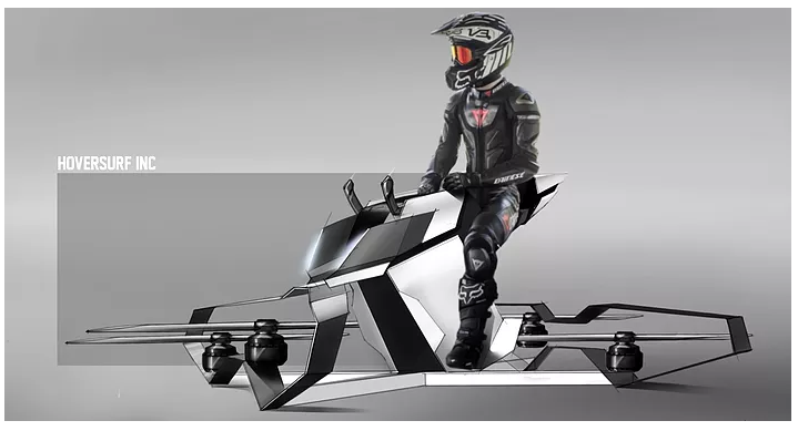 La era de los vehículos voladores da paso a la Moto con la tecnología Drone