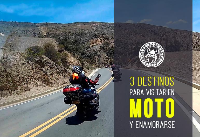 3 destinos para visitar en moto y… enamorarse