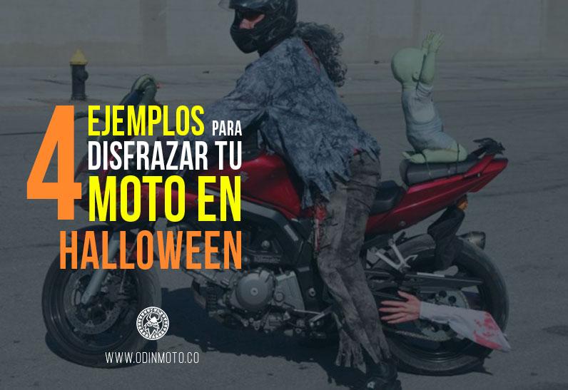 4 ejemplos para disfrazar tu moto en Halloween